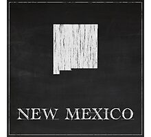 New Mexico Map Photographic Print