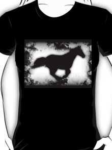 Western-look Galloping Horse Silhouette T-Shirt