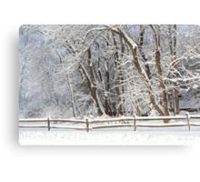 Winter - Westfield, NJ - Snow Day Canvas Print