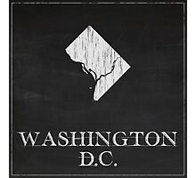 Washington DC Map Photographic Print