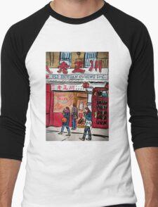 Chinatown Cuisine Men's Baseball ¾ T-Shirt