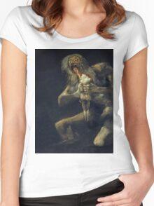De Goya's Monsters Women's Fitted Scoop T-Shirt