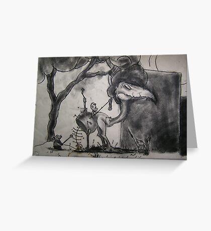 Charcoal Fantasy Greeting Card