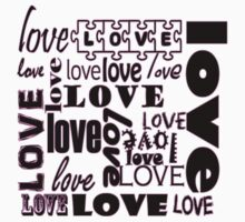 Beautiful Cushions/ Love / Love is all around/pink/outline Kids Clothes