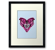 Love Is Death Heart Weapons Framed Print