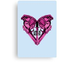 Love Is Death Heart Weapons Canvas Print