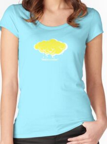 yellow on white Women's Fitted Scoop T-Shirt