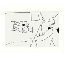 Dreams of insomniac - Petits Dessins Débiles - Small Weak Drawings #27 Art Print
