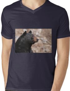Black Bear Mens V-Neck T-Shirt