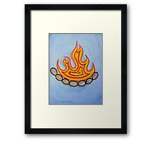 Reclaim, Rekindle, Reignite the Sacred Hearth Framed Print