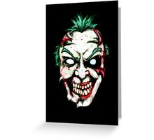 Zombie Clown Greeting Card