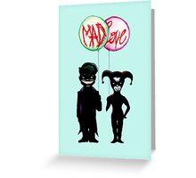 Clown & Quinn Balloons Mad Love Greeting Card