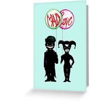 Clown & Quinn Balloons Mad Love Greeting Card