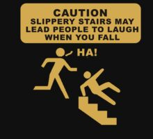 Caution sign funny tshirt design by loganhille