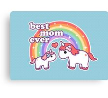 Cute Unicorn Mom Canvas Print