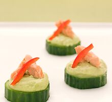 Cucumber Croutes  by Anna Lisa Vegter