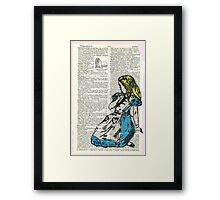Alice & The Walrus Framed Print