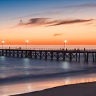 Port Noarlunga Jetty at sunset by Anna Vegter