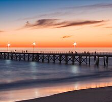 Port Noarlunga Jetty at sunset by Anna Lisa Vegter