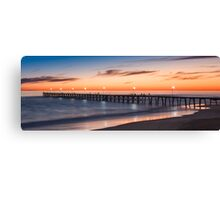 Port Noarlunga Jetty at sunset Canvas Print