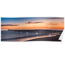 Port Noarlunga Jetty at sunset Poster