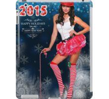 Sexy Santa's Helper postcard wallpaper template design for 2015 iPad Case/Skin