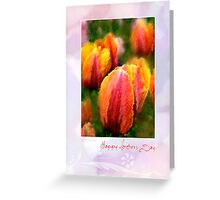 Tulips for Mothers Day Greeting Card