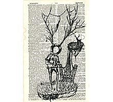 Spaceman and the great deer Photographic Print