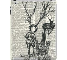 Spaceman and the great deer iPad Case/Skin