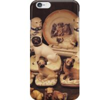 Antique Pug Collection iPhone Case/Skin