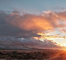 winter sunset Winnemucca nv. by DonActon