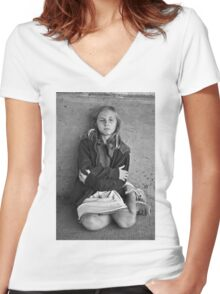 """Children of Tomorrow: Homeless Project"" Women's Fitted V-Neck T-Shirt"