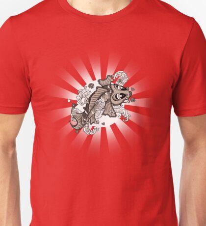 Sepia Koi Unisex T-Shirt