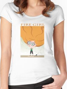Fire Girl t-shirt Women's Fitted Scoop T-Shirt