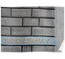 Broadway Bricks Poster
