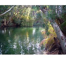 Jordan river southern of Sea of Galilee Photographic Print