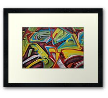 Abstract Colors Close Up Framed Print