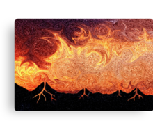How Volcanoes are Made with Sky Lava Canvas Print