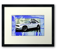 Challenger RT as a Creme Puff on a bed of Scratchy Metal Framed Print