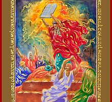 Moses Breaking the Tablets of the Law by EggTemperaArt
