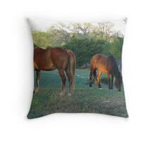 Gracy and Lily Throw Pillow