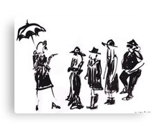 Wear this Ink Wash on Wednesdays Canvas Print