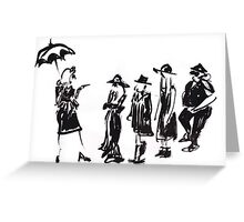 Wear this Ink Wash on Wednesdays Greeting Card