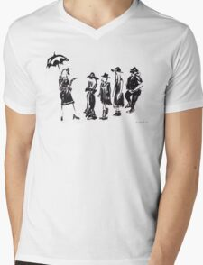 Wear this Ink Wash on Wednesdays Mens V-Neck T-Shirt