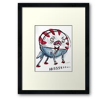 Demon Peppermint Butler - HISSSSSS Framed Print