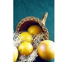 Cornucopia filled with fruit Photographic Print