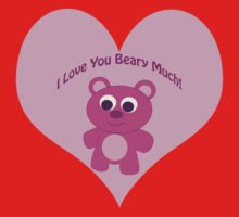 I Love You Beary Much! Pink Bear One Piece - Short Sleeve