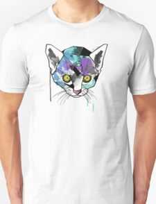 Geometric Watercolor Cat Unisex T-Shirt