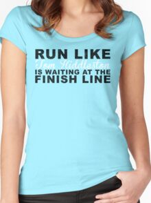 Run Like Tom Hiddleston is Waiting at the Finish Line Women's Fitted Scoop T-Shirt
