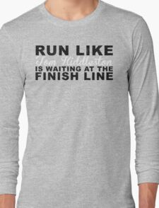 Run Like Tom Hiddleston is Waiting at the Finish Line Long Sleeve T-Shirt